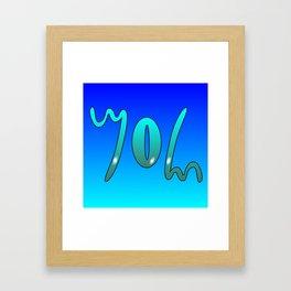 John (Ambigram) Namendreher Framed Art Print