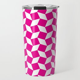 Pink Op Art Pattern Travel Mug