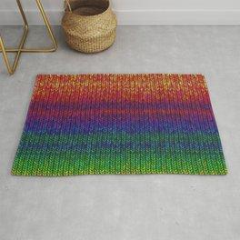 Rainbow Knit Photo Rug