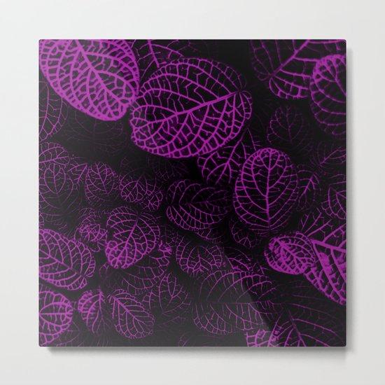 Tropical Purple Leaves Metal Print