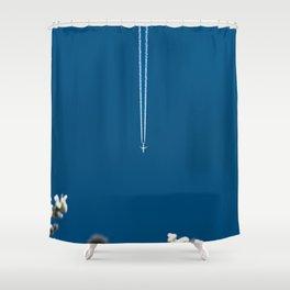 Jetset - Bluest Blue Shower Curtain