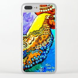 Crazy Chicken Clear iPhone Case