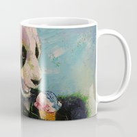 ice cream Mugs featuring Ice Cream by Michael Creese