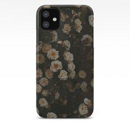 Midnight Dark Floral Grunge iPhone Case