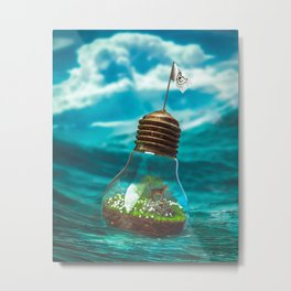 Captain Snuggles and The Lightboat Metal Print