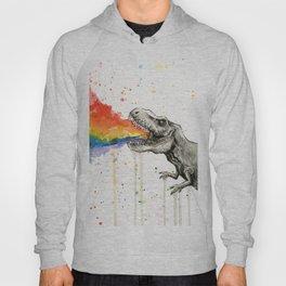 T-Rex Rainbow Puke Hoody