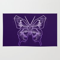 battlestar galactica Area & Throw Rugs featuring Galactica Purple Butterfly by Tiffany 10
