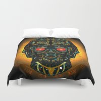 sith Duvet Covers featuring Sith Three Pe Oh Sacrifice Procurement Drone by Quakerninja