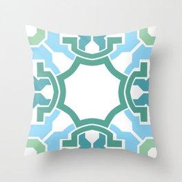 Green rectangle 2 Throw Pillow