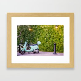 Moped Framed Art Print