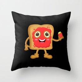 Toast With Jam Throw Pillow