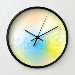 Light meditation Wall Clock