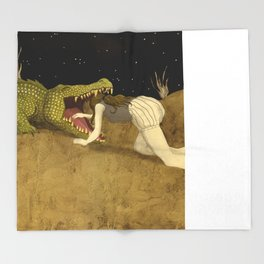 In The Mouth Of Madness Throw Blanket