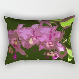 Pink Orchid Abstract Rectangular Pillow