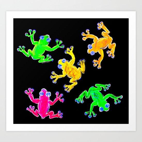 Rainforest Multicolour Art Print