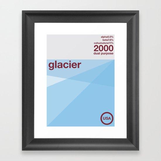 glacier single hop Framed Art Print