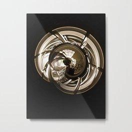 Golden Shell Metal Print