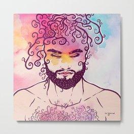 Curly Nature Metal Print