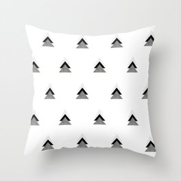 Arrows Collages Monochrome Pattern Throw Pillow