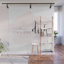 ICH LIEBE DICH,Love Quote,Love Gift,Boyfriend Gift,Gift For Couples,Anniversary Quote,Valentines Day Wall Mural