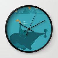 submarine Wall Clocks featuring Nature's Submarine by Jay Fleck