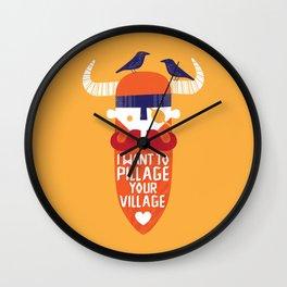 Pillage Wall Clock
