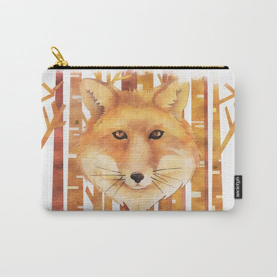 Fox in the forest- Animal abstract watercolor illustration on #Society6 Carry-All Pouch