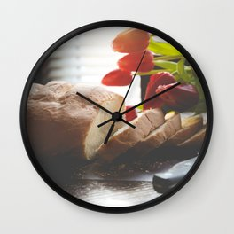 Bread and Tulips Wall Clock