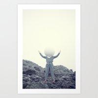 Big empty head 2 Art Print
