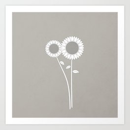 Simply Folk - Sunflowers Art Print