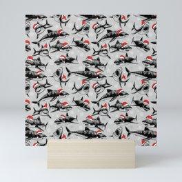 Santa Sharks Mini Art Print