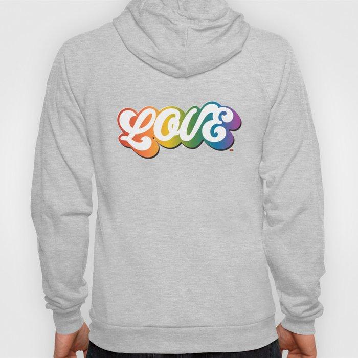 LOVE in All Caps (Rainbow) Hoody