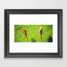Colorful Catch Framed Art Print