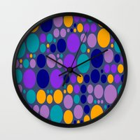 dots Wall Clocks featuring Dots by Aloke Design