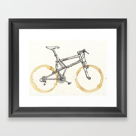 Decaf-Coffee Wheels #00 Framed Art Print