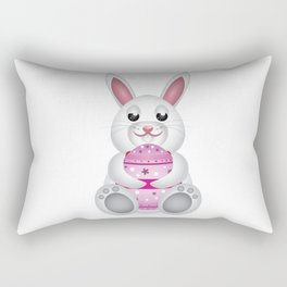 Easter bunny with pink egg Rectangular Pillow
