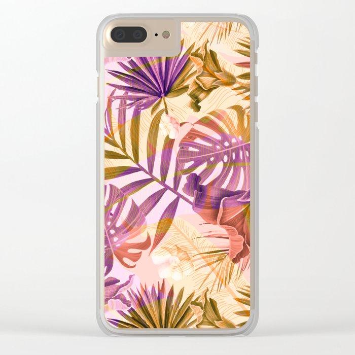 Tropical fiesta - sunrise Clear iPhone Case