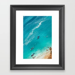 Beach from above Framed Art Print