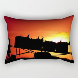 Sunset art work Rectangular Pillow