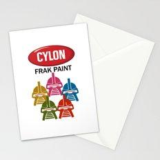 Cylon Frak Paint Stationery Cards