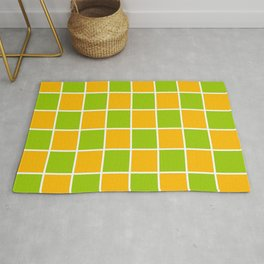 Lime Green & Golden Yellow Chex 1 Rug