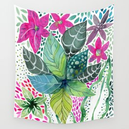 Leafy Tropical Wall Tapestry