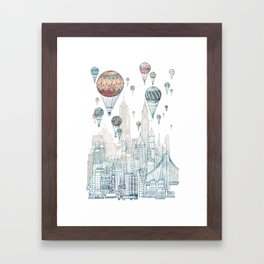 Voyages Over New York ~Refresh Framed Art Print