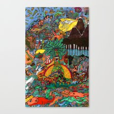 A Land Of Chaos Canvas Print