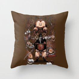 Iron gentleman Throw Pillow