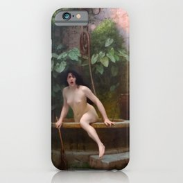Truth Coming Out Of Her Well To Shame Mankind Jean-Leon Gerome iPhone Case