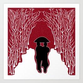 White Forest Snow Art Print