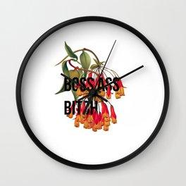 Boss A** Bitch Wall Clock
