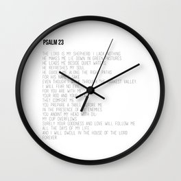 Psalm 23 #minimalist Wall Clock