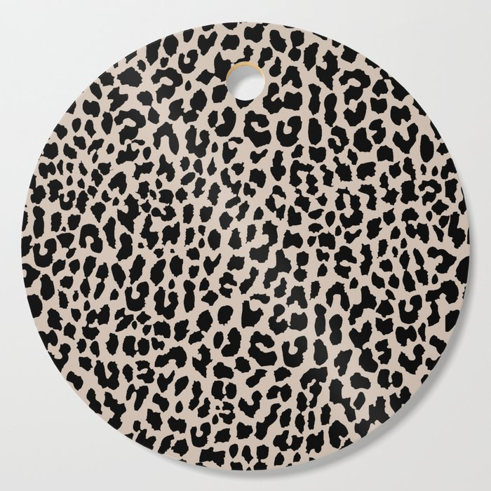 Tan Leopard Cutting Board